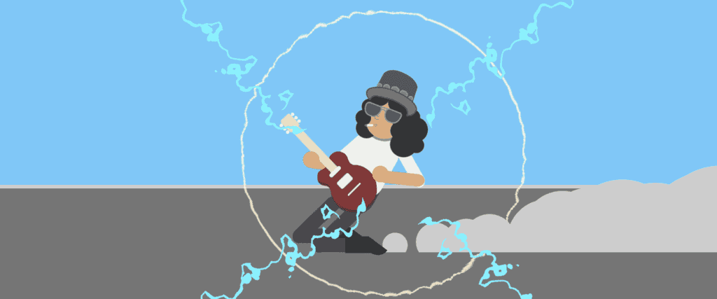 An Animated Slash slides across an infinite stage