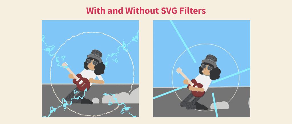 Slash with and without filters